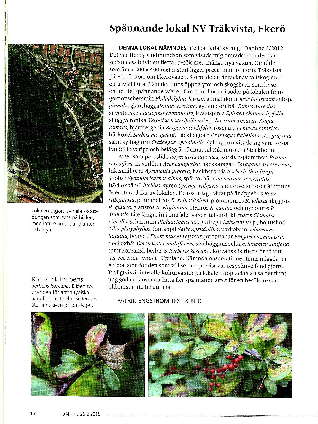 Växter vid Träkvista
